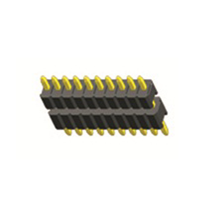 1.27mm Pin Header H=1.0 Dual body Single Row Straight Type