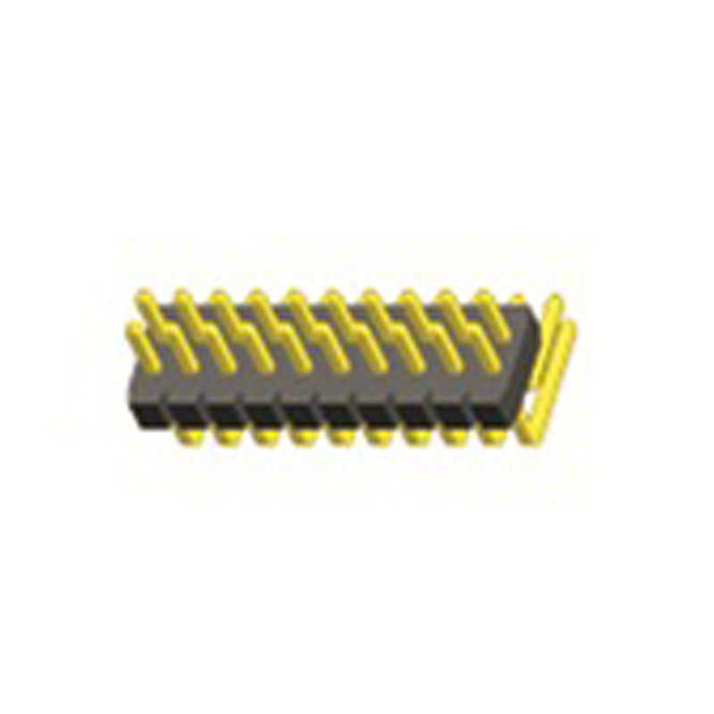1.27mm Pin Header H=1.0 Double Row Right Angle Type