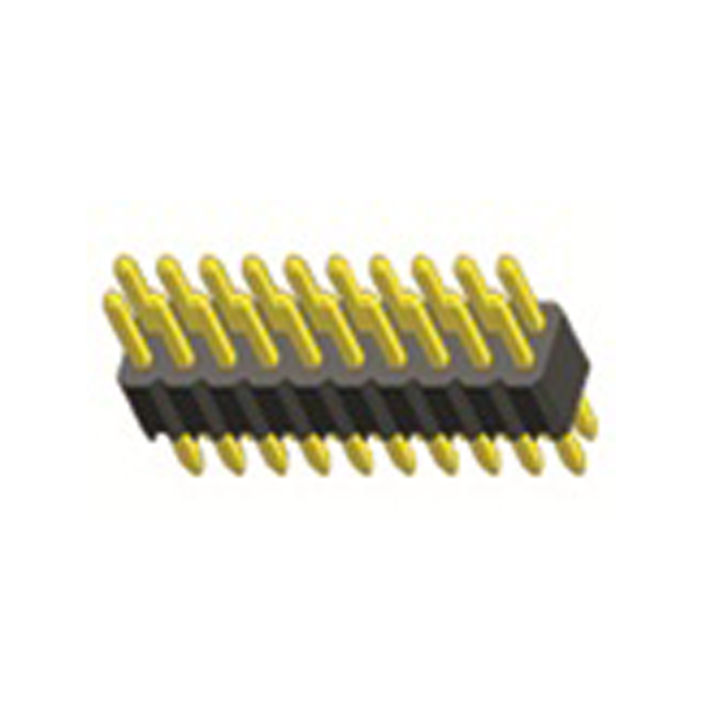 1.27mm Pin Header H=1.0 Double Row Straight Type