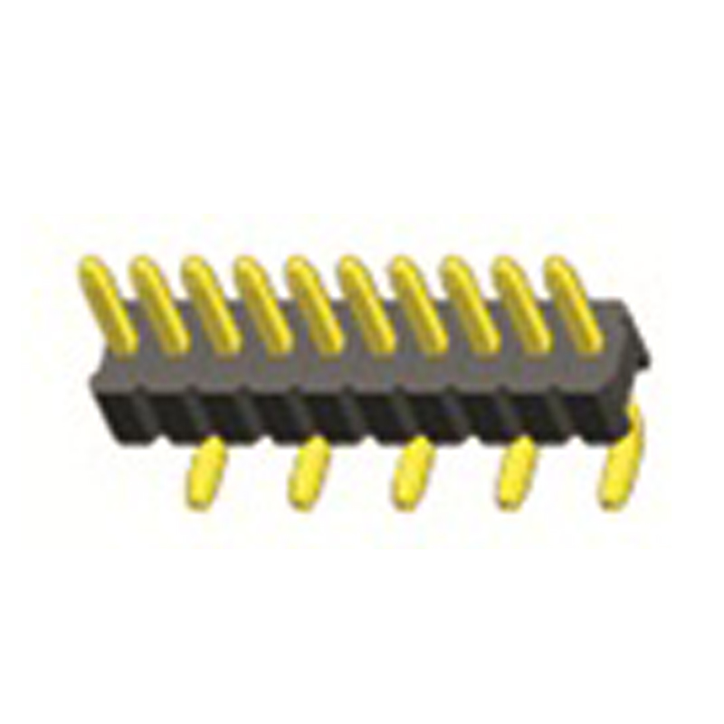 1.27mm Pin Header H=1.0 Single Row  Rignt Angle Type