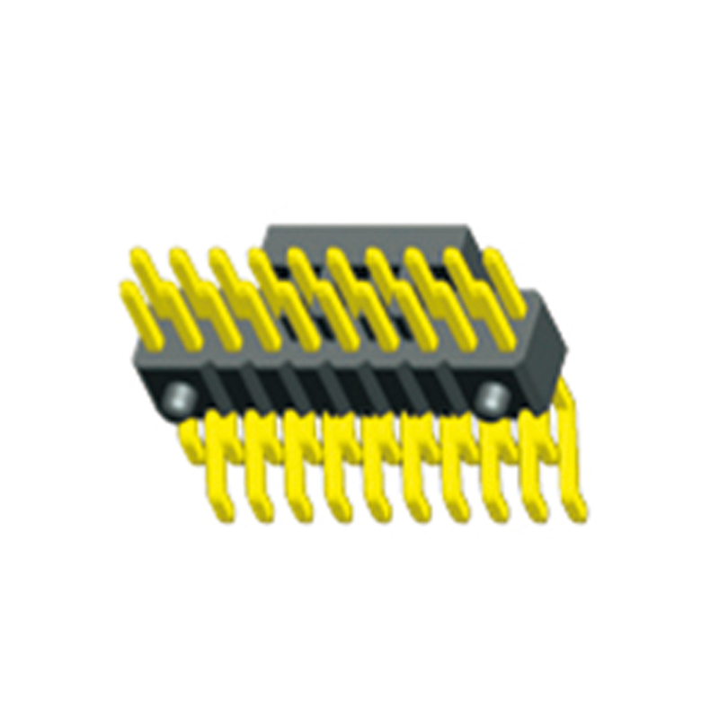 1.27mm Pin Header H=2.5 Double Row Right Angle SMT Type With Post
