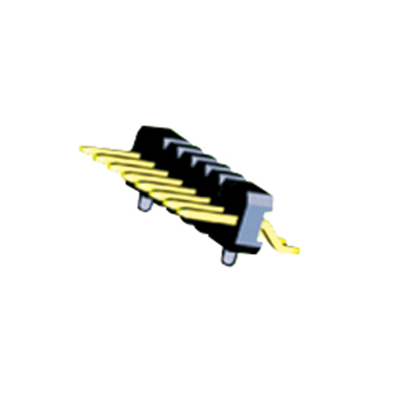 1.27mm Pin Header H=2.5 Single Row Right Angle SMT Type With Post