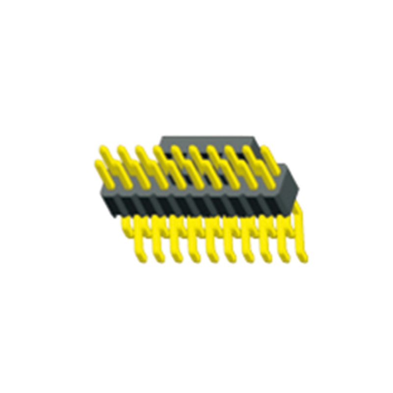 1.0 Pin Header H=1.5 Dual Row Right Angle SMT Type