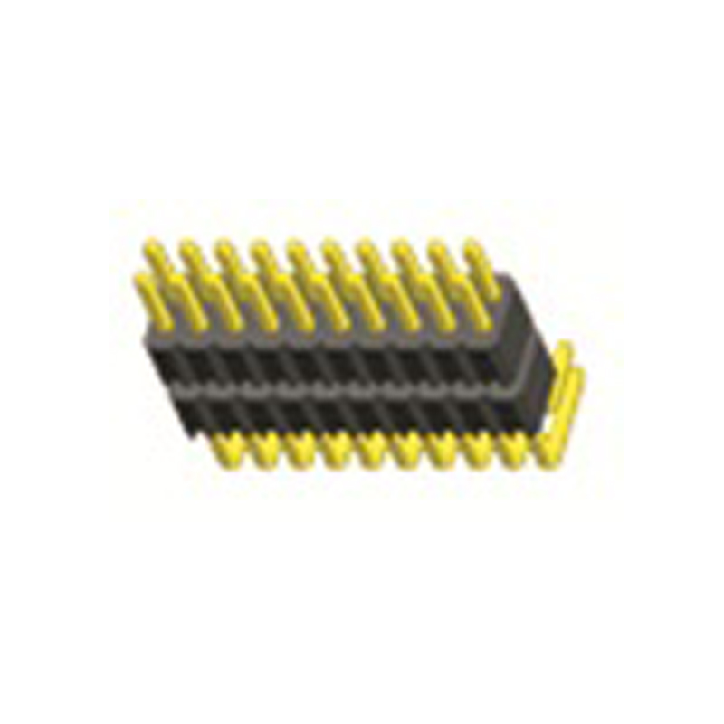2.0mm Pin Header H=1.5 Double Row Right Angle Type