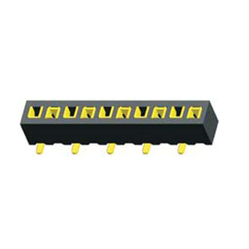 1.27mm Female Header H=2.0  Single Row SMT without Post Type