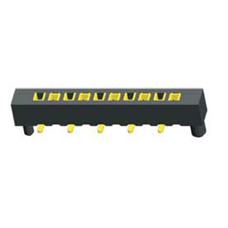1.27mm Female Header H=2.0  Single Row SMT with Post Type