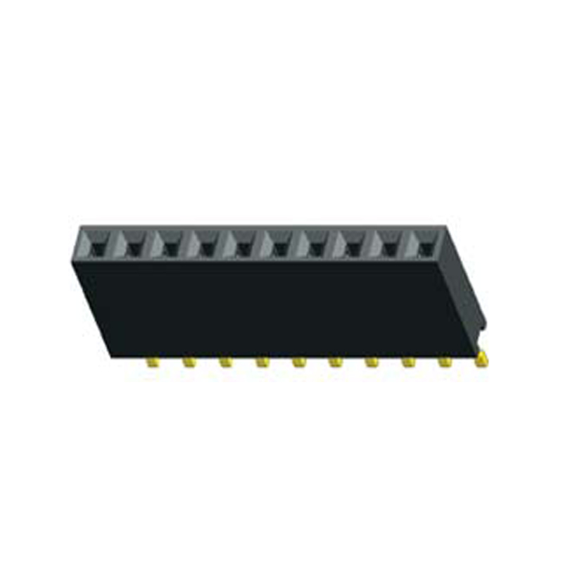 2.54mm Female header H=8.5 Single Row Right Angle SMT Type