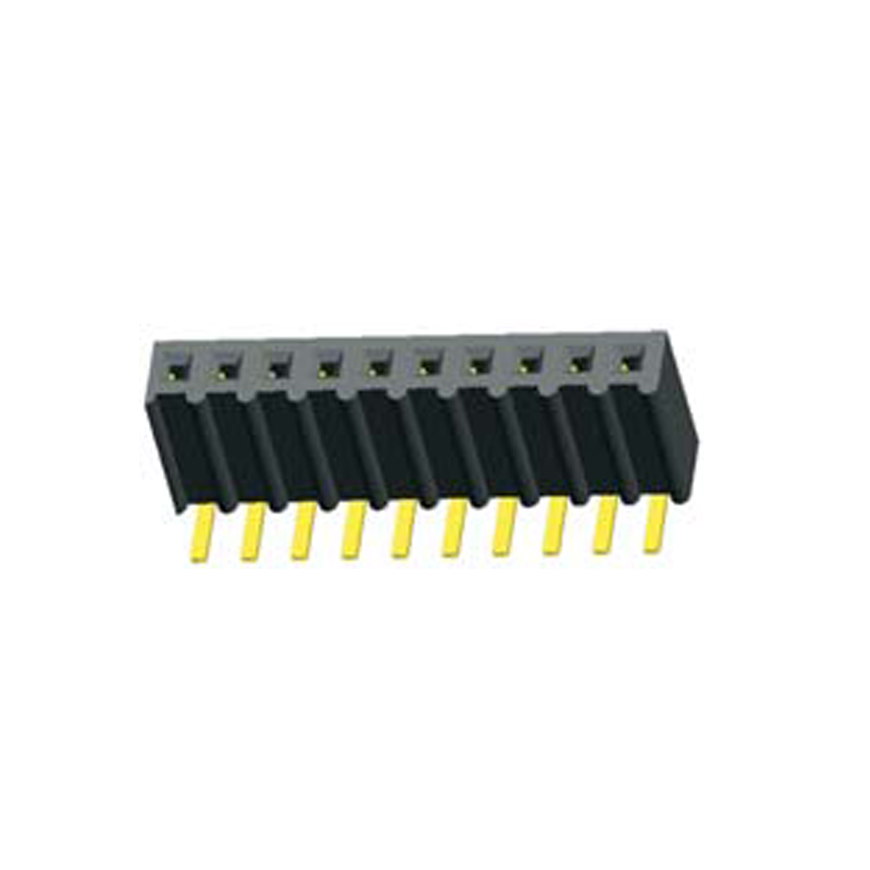 2.54mm Female header H=8.5 Single Row Right Angle Wave  Type