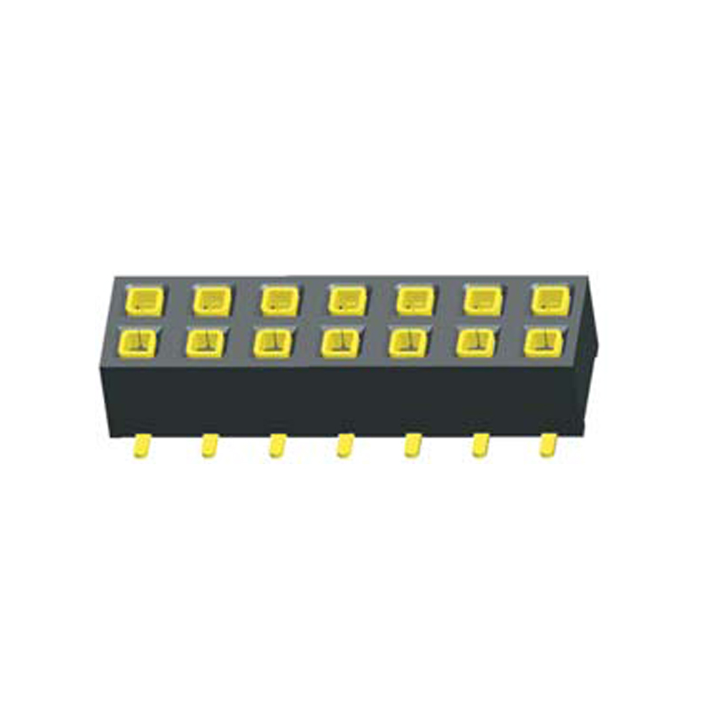 2.54mm  Female Header H=3.6mm, Dual Row SMT Top Entry Type