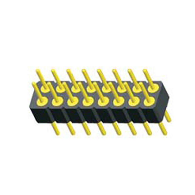 2.0mm Machined Pin Header H=2.8 Double Row Straight Type