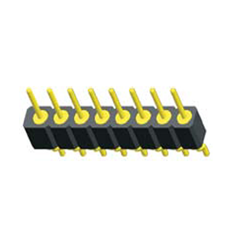 2.0mm Machined Pin Header H=2.8 Single Row Right Angle&SMT Type